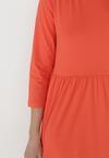Pomarańczowa Sukienka Himeete