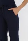 Granatowe Spodnie Dresowe Avawen