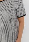 Szaro-Czarny 2-Częściowy Komplet Piżamowy Clypise