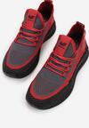 Czarno-Czerwone Buty Sportowe Phridia