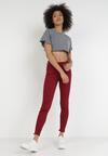 Bordowe Spodnie Skinny Dalinia