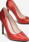 Czerwone Holograficzne Szpilki Pisireia