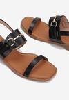 Czarne Sandały Echinea