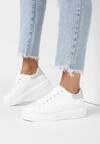 Biało-Srebrne Sneakersy Ashiphise