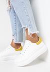 Biało-Żółte Sneakersy Ashiphise