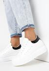 Biało-Czarne Sneakersy Charybdis