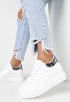 Biało-Srebrne Sneakersy Charybdis