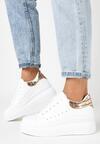 Biało-Złote Sneakersy Charybdis