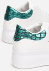 Biało-Zielone Sneakersy Charybdis