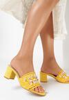 Żółte Klapki Mayama