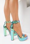 Zielone Sandały Poreitheis