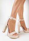 Beżowe Sandały Gathixia