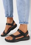 Czarne Sandały Borlaeno