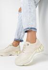 Beżowe Sneakersy Larailori