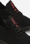Czarno-Czerwone Buty Sportowe Thesiphaeia