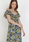 Czarno-Żółta Sukienka Ariefer