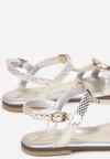 Złote Skórzane Sandały Nerilaeno