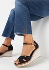 Czarne Sandały Metigina