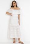 Biała Sukienka Aqialise