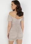 Jasnobeżowa Sukienka Merisana