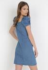 Niebieska Sukienka Nephedelia