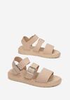 Ciemnobeżowe Sandały Iphadise
