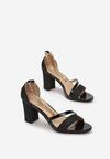 Czarne Sandały Delolia