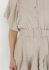 Beżowa Sukienka Zelinoe