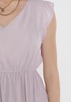 Liliowa Sukienka Euphethia