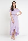 Liliowa Sukienka Sinishis