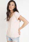 Jasnoróżowy T-shirt Cretheosis