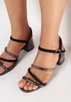 Czarne Sandały Thelertise