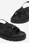 Czarne Sandały Nysahria