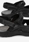 Czarne Sandały Euphaeia