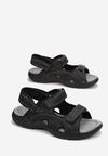 Czarne Sandały Orphaxise