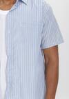 Biało-Niebieska Koszula Theisine
