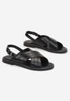 Czarne Sandały Prixistae
