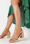 Ciemnbeżowe Sandały Dorephine