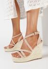 Ciemnobeżowe Sandały Iphali