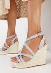 Niebieskie Sandały Iphali