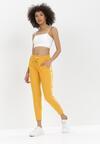Żółte Spodnie Dresowe Zeuxisei