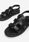 Czarne Sandały Synesi
