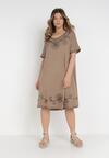 Beżowa Sukienka Thonigeia