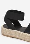 Czarne Sandały Alethophai