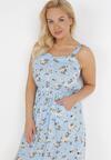 Jasnoniebieska Sukienka Daphnusi