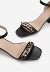 Czarne Sandały Thespophia