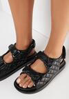 Czarne Sandały Sagite