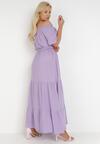 Liliowa Sukienka Theamethe