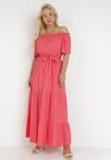 Koralowa Sukienka Theamethe