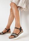 Czarne Sandały Oriphyphise